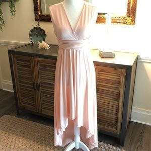 GORGEOUS Peach High Low Dress NWOT